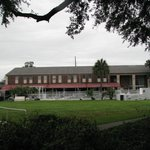 Main building, pool and grounds