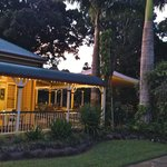 Heritage listed restaurant surrounded by tropical gardens