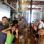 Having fun at Society Brewery!