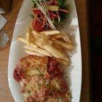 Chicken Parmigiana - good quality, tasty, decent value.
