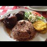 Rice and Beans con Pollo Caribeno