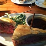 French Dip w/cold Parmesan Green Bean & Pistachio