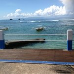 view of the ocean, locals can take you out to the 3 islands snorkelling