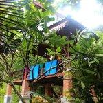 zicht op bungalow