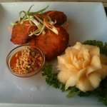 Corn cakes at The Giggling Squid