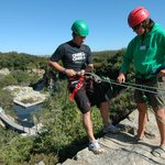 Abseiling into the Adventure Quarry
