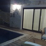 delux suit room's private pool night view