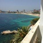 vista sulla spiaggia di Magaluf