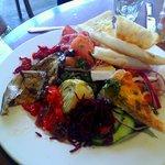The antipasto platter.