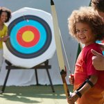 Archery coaching at Thorpe Park Holiday Centre