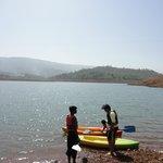 Rajeev learns to kayak - hotel arranged