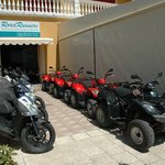RoadRunners fleet of modern Agility scooters (125 & 150cc) and MXU quads (150 & 300cc)