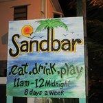 Sandbar Sign