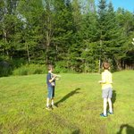"boys playing in the ""backyard"""