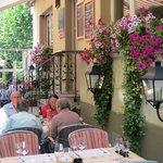 Teilansicht Gartenrestaurant Jägerheim