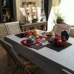 Délicieux petit-déjeuner en terrasse