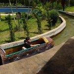 Log boat ride