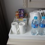 free bottles of water and coffee