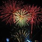 July 14th Fireworks display near hotel