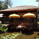 restaurant at lotus pond