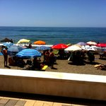 El Picadero - view of beach from restaurant