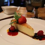 Cheese cake with forest fruit