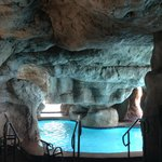Cave by pool