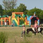 balade à poney, jeux gonflables, terrains de foot