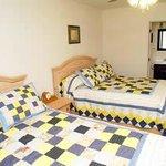 Bedroom in 2 Bedroom 2 Bath Cabins