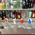 Muestra de las marcas de las bebidas del Todo Incluido