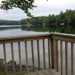 Breakfast nook overlooking lake Sherman
