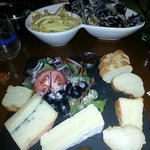 tasty muscles and cheese board