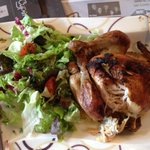 Chicken, chips and salad