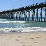 The Kure Beach Pier within walking distance of our room