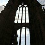 Gothic church ruins.