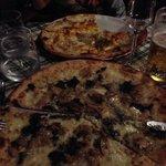 pizza porcini e tartufo e amatriciana!