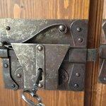 The bedroom door lock