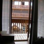 vue de la salle à manger sur le balcon