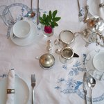 Table setting at Knock House Portstewart n.Ireland