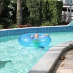 grandson on the lazy river