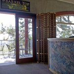 Entrance to the balcony of The Barrel Top Grill