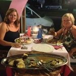 Hayley & Dawn July 2013 - What a meal
