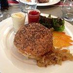 Cheeseburger, brebis et frites maison