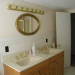mirror and double sink