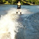 Me attempting to water-ski after many many years