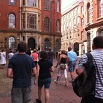 we eagerly followed the historic tour of Nottingham