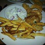Fried Seafood Platter (Tilapia,crab cake & shrimp)
