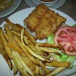 Fried Grouper Sandwich (tomato-not fully ripe)