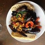 Mussels - they call this an app - it was a meal.