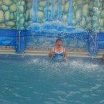 El la piscina